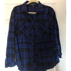 Tops - Cobalt blue plaid shirt